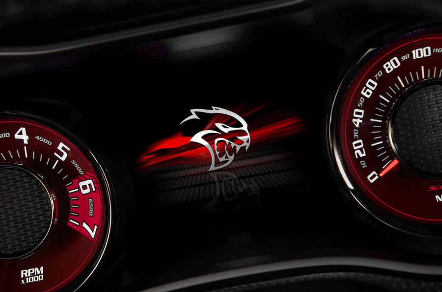 Dodge Challenger Hellcat Redeye Widebody 2018 first drive review - instrument cluster