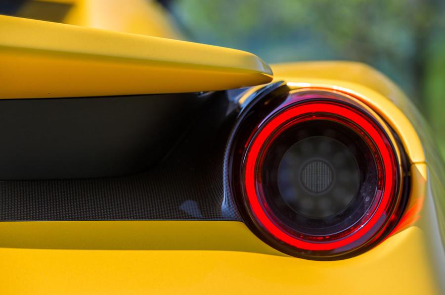 Ferrari 488 Pista Spider 2019 first drive review - rear lights