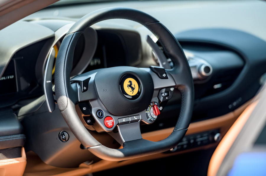 Ferrari F8 Tributo 2019 first drive review - steering wheel
