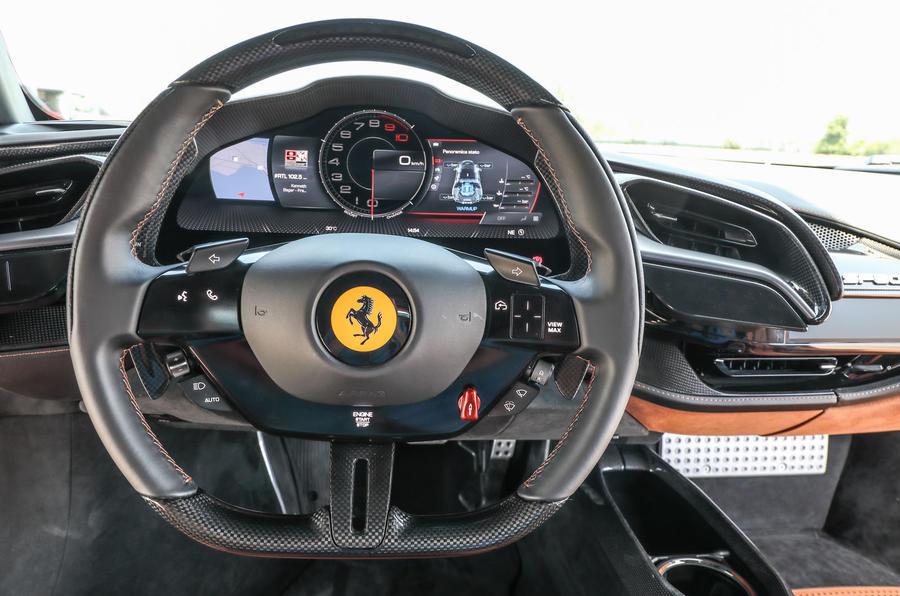 Ferrari SF90 Stradale 2020 first drive review - steering wheel