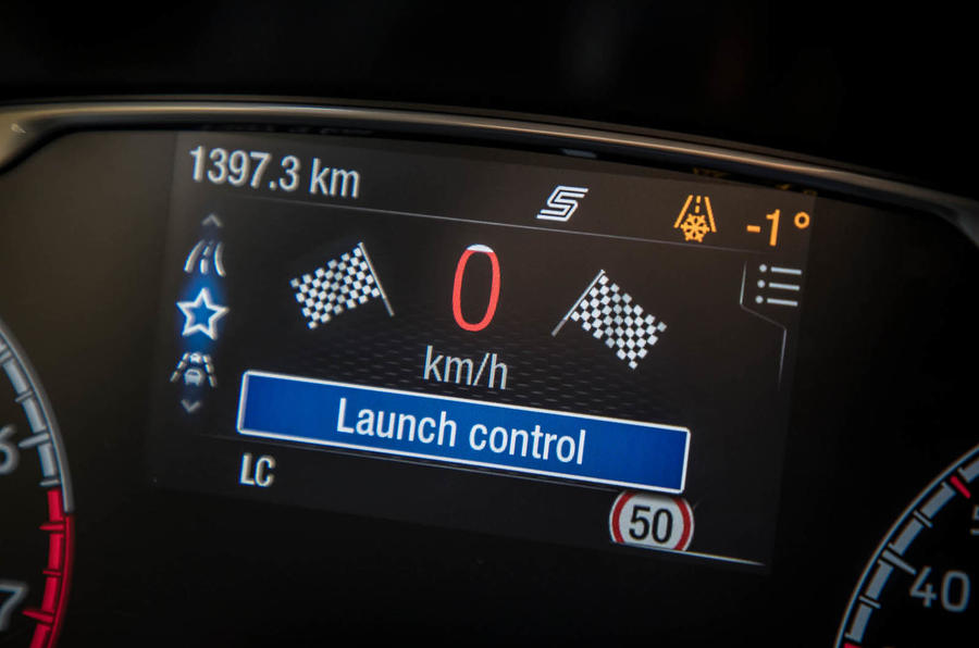 Ford Fiesta ST 2018 review instrument cluster