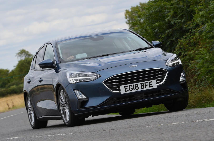 Ford Focus 1.0 Titanium X 2018 UK first drive review cornering front