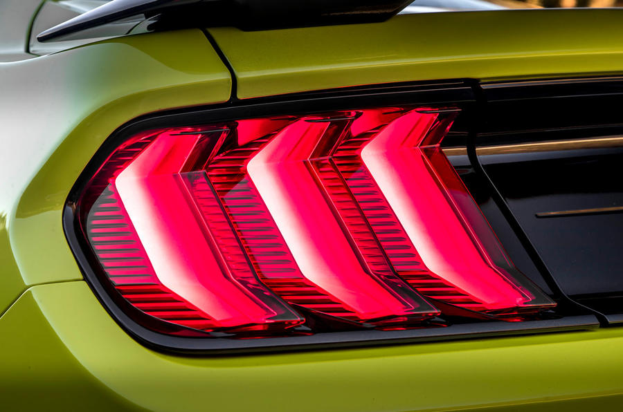 Ford Shelby Mustang GT500 2020 first drive review - rear lights