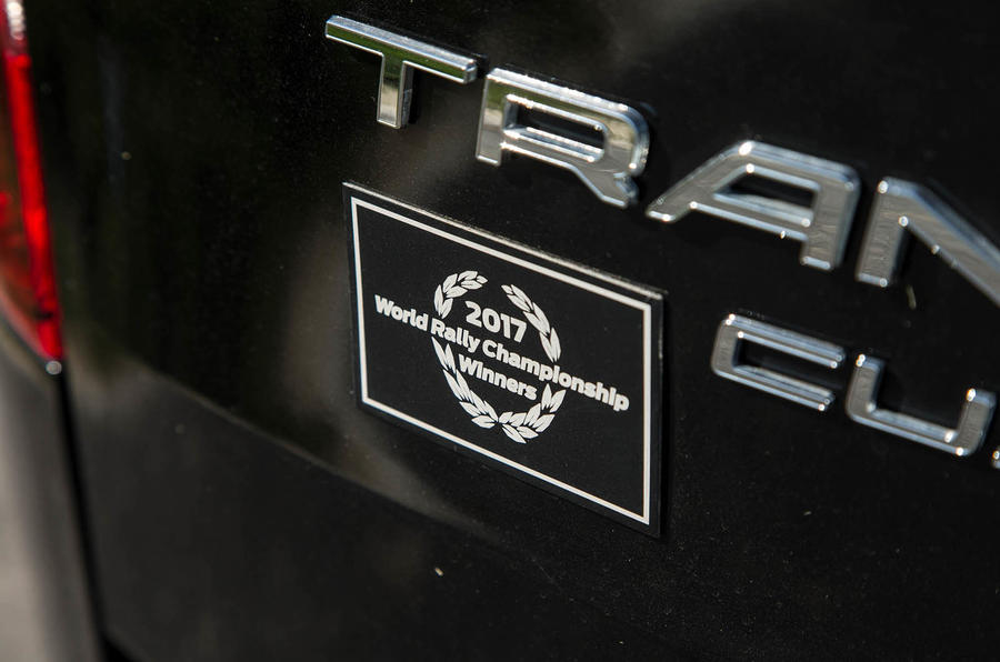 Ford Transit MS-RT custom review WRC badge