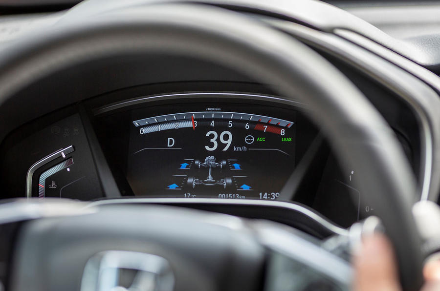 Honda CR-V 2018 first drive review instrument cluster