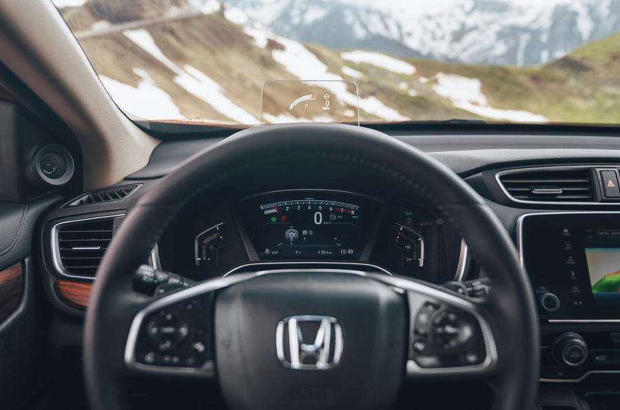 Honda CR-V 2018 first drive review steering wheel