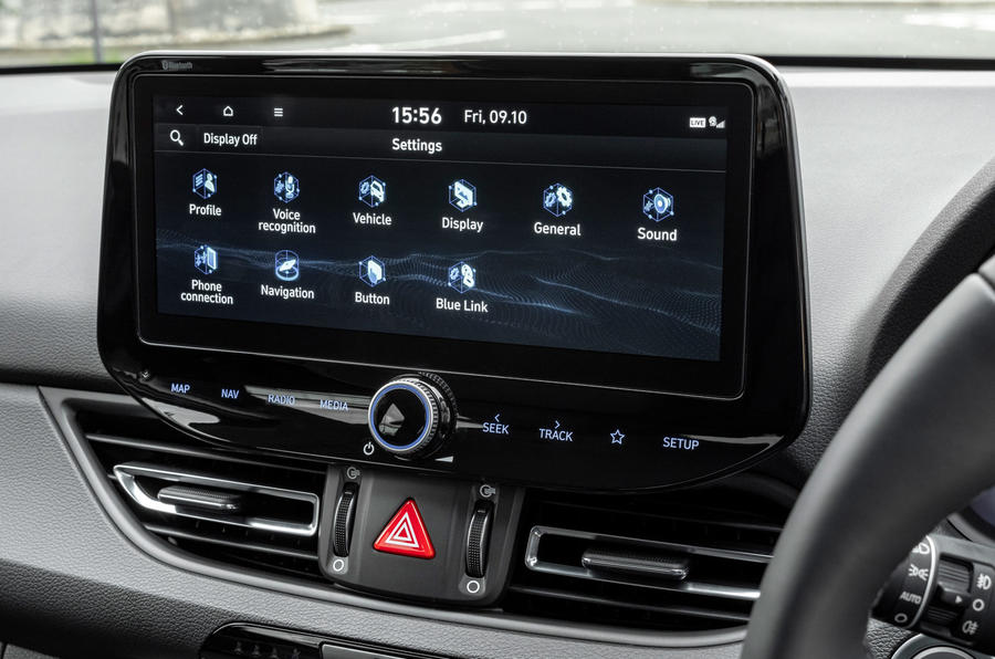 Hyundai i30 2020 UK first drive review - infotainment