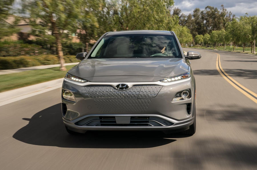 Hyundai Kona Electric 2018 first drive review on the road front