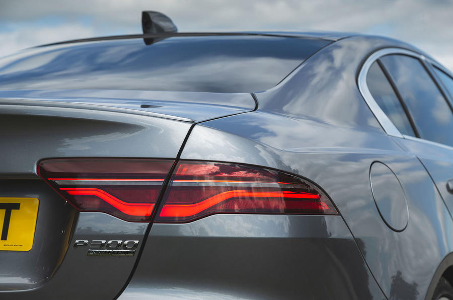 Jaguar XE P300 2019 UK first drive review - rear lights