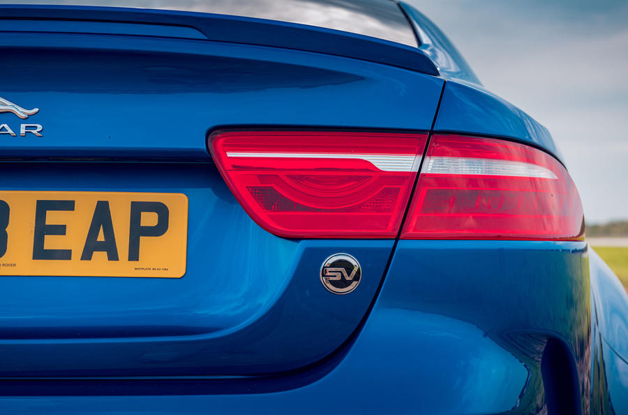 Jaguar XE SV Project 8 Touring 2019 UK first drive review - rear lights