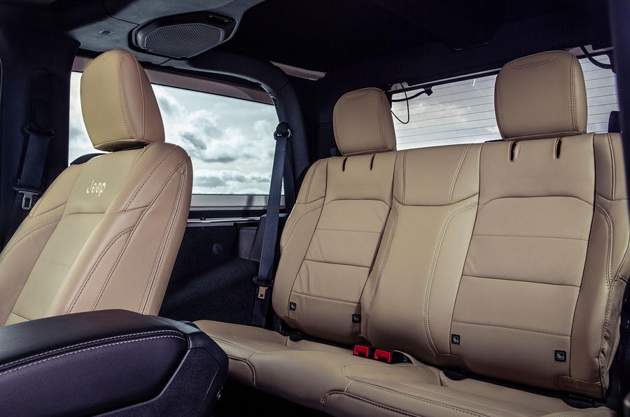 Jeep Wrangler 2019 UK first drive review - rear seats