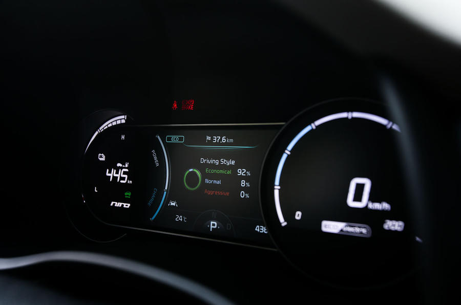Kia Niro EV 2019 first drive review instrument cluster