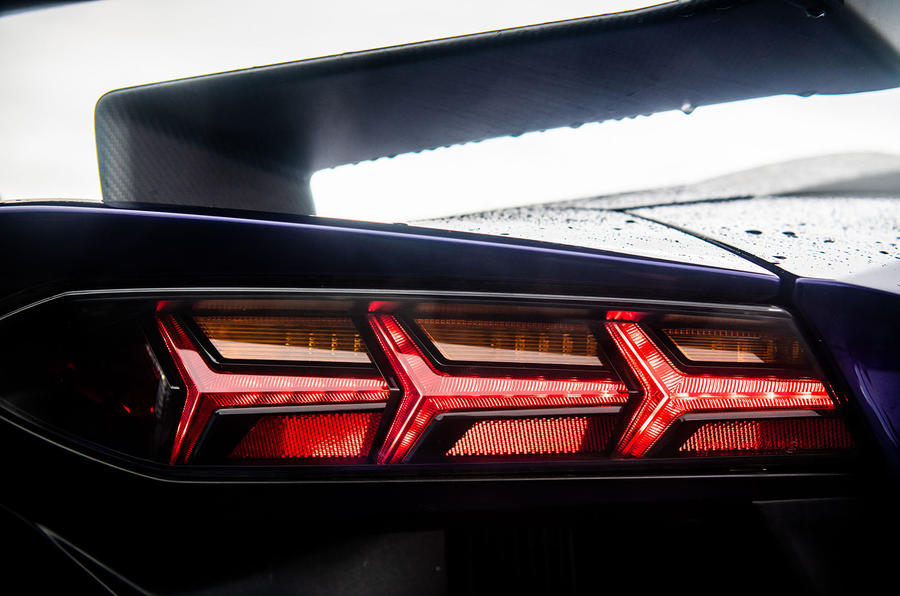 Lamborghini Aventador SVJ 2018 UK first drive review - rear lights