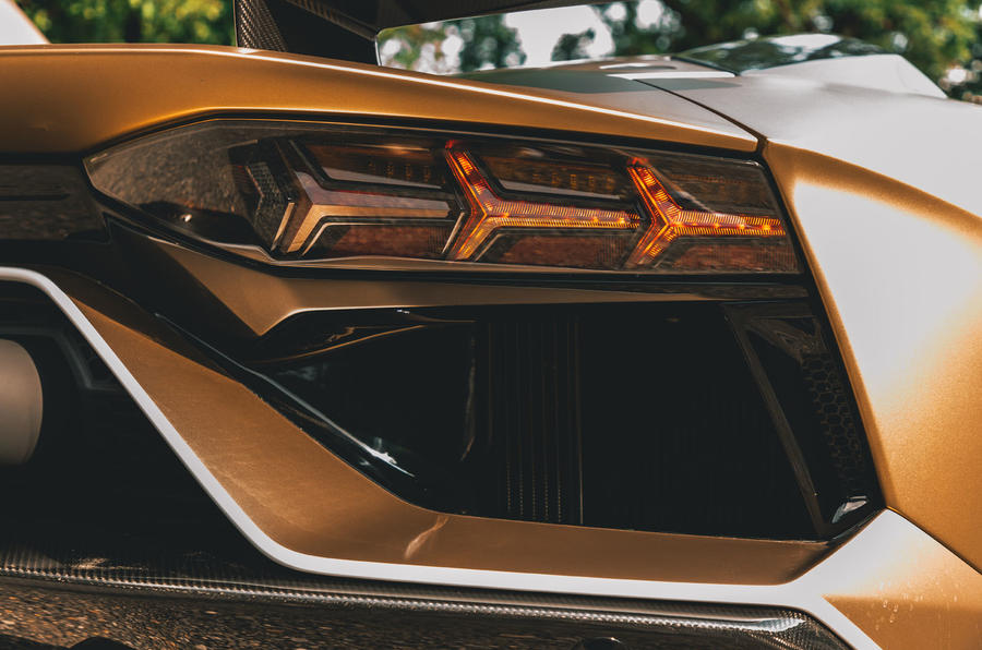 Lamborghini Aventador SVJ Roadster 2019 first drive review - rear lights
