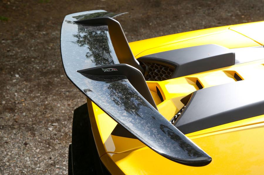Lamborghini Huracan Performante Spyder 2018 UK review spoiler detail
