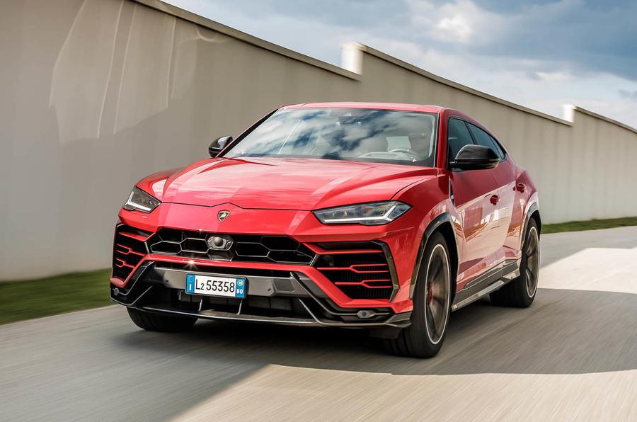 Lamborghini Urus review 2018 on the road front