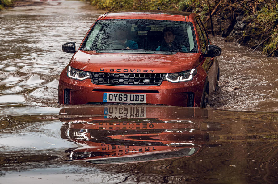 Land Rover Discovery Sport 2019 UK first drive review - wading
