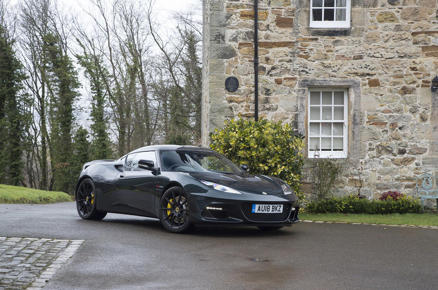 Lotus Evora GT410 Sport 2018 UK review static front