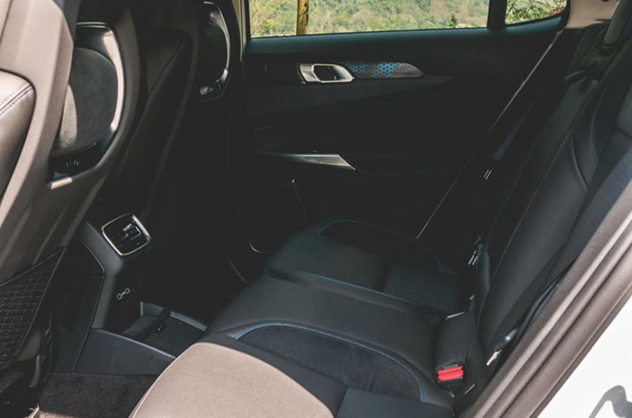Lynk&Co 01 PHEV 2019 first drive review - rear seats