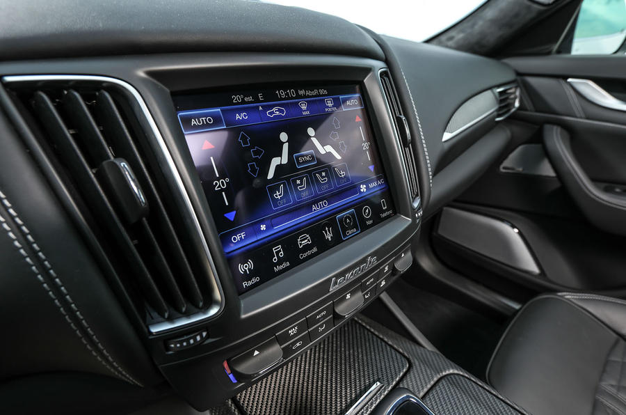 Maserati Levante Gransport 2018 UK first drive review infotainment