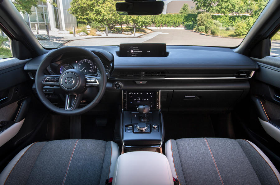 Mazda MX-30 2020 UK first drive review - dashboard