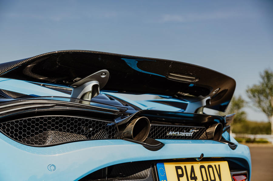 McLaren 720S Spider 2019 UK first drive - spoiler