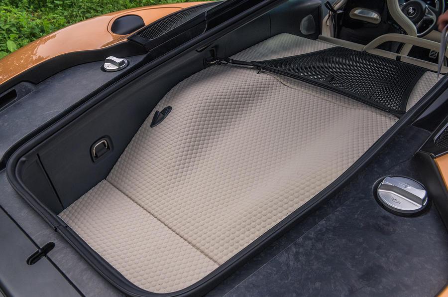 McLaren GT 2019 UK first drive review - boot quilting