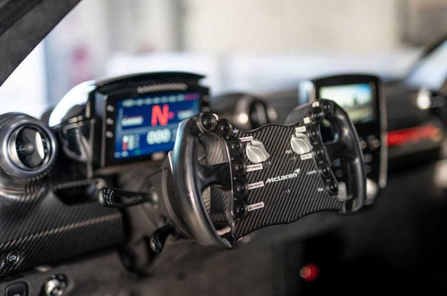 McLaren Senna GTR 2019 first drive review - steering wheel