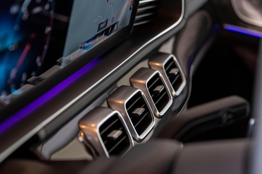 Mercedes-Benz GLS 400D 2019 first drive review - climate control vents