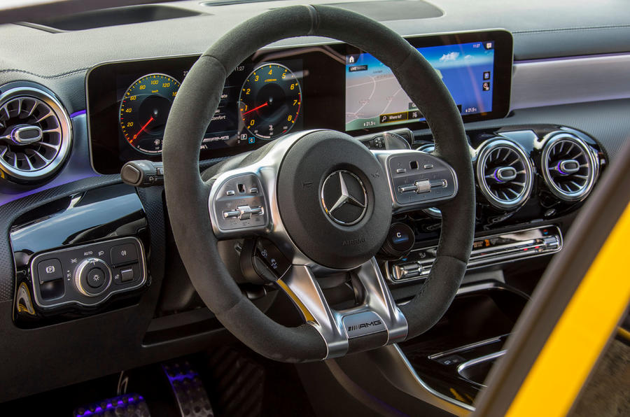 Mercedes-AMG A35 2018 first drive review - steering wheel