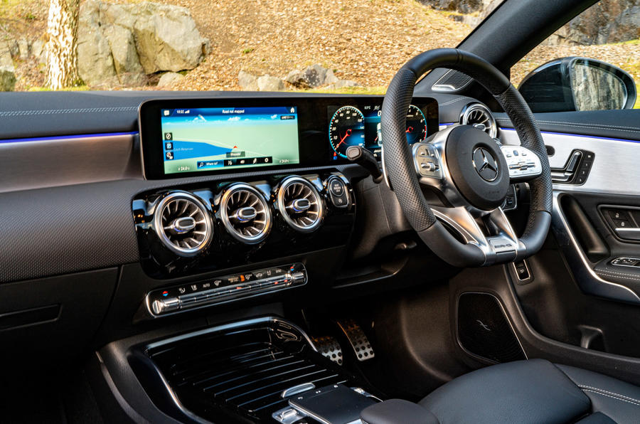 Mercedes-AMG CLA35 2020 UK first drive review - dashboard