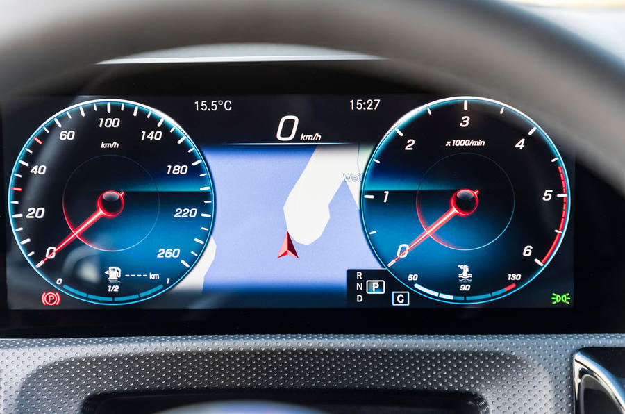 Mercedes-Benz CLA 2019 first drive review - instruments