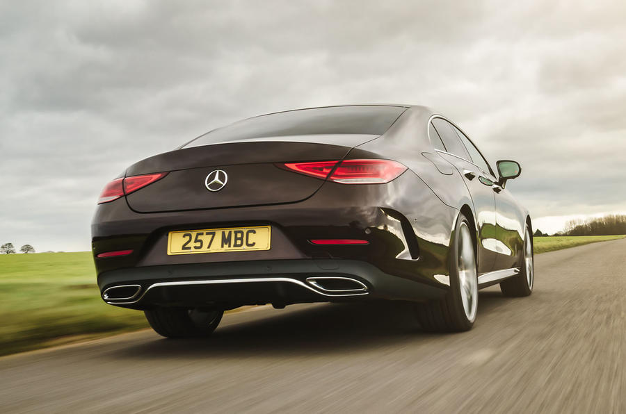 Mercedes-Benz CLS 450 2018 UK review on the road rear