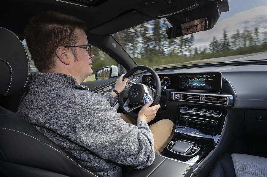 Mercedes-Benz EQC 2019 first drive - Matt Saunders driving