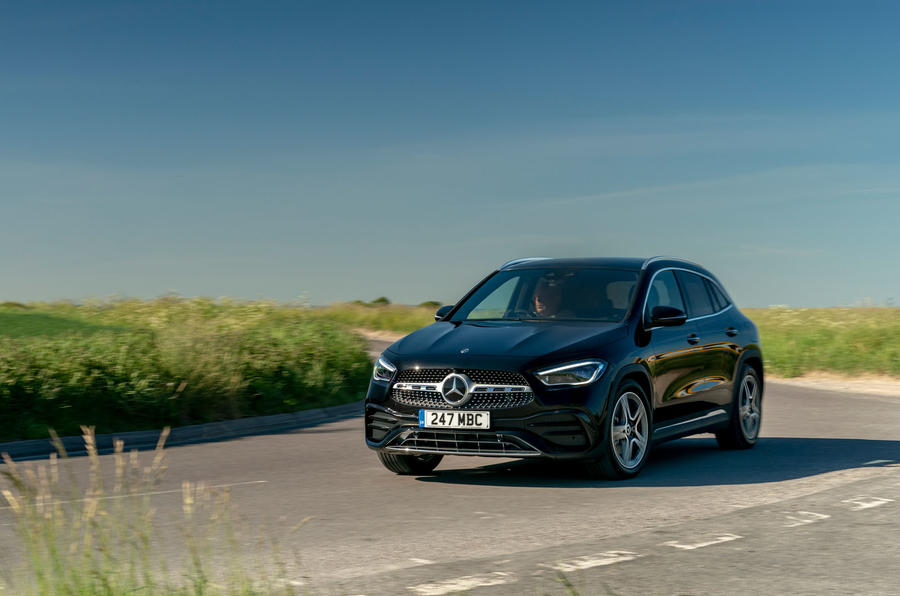 Mercedes-Benz GLA 220d 2020 UK first drive review - cornering front