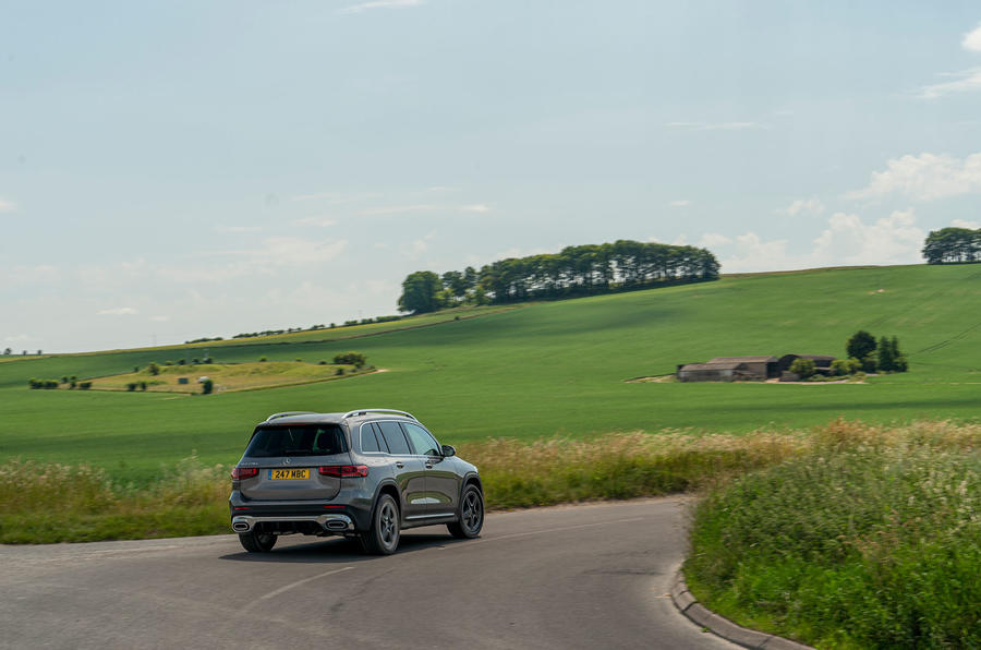Mercedes-Benz GLB 2020 UK first drive review - on the road rear