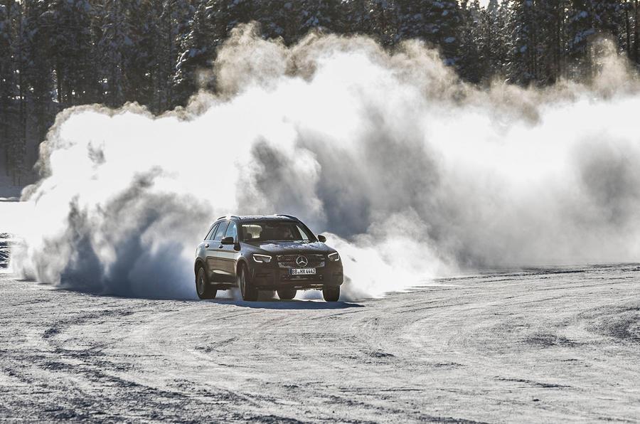 Mercedes-Benz GLC 300 2019 prototype drive - snow