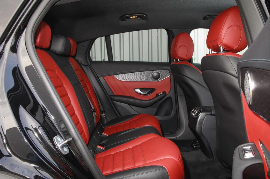Mercedes-Benz GLC 300 2020 UK first drive review - rear seats