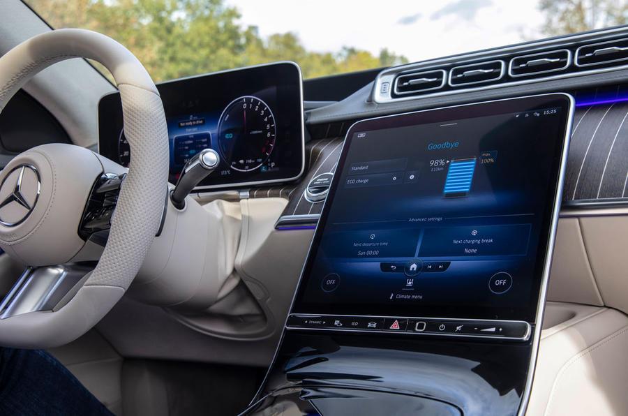 Mercedes-Benz S Class S580e 2020 first drive review - infotainment