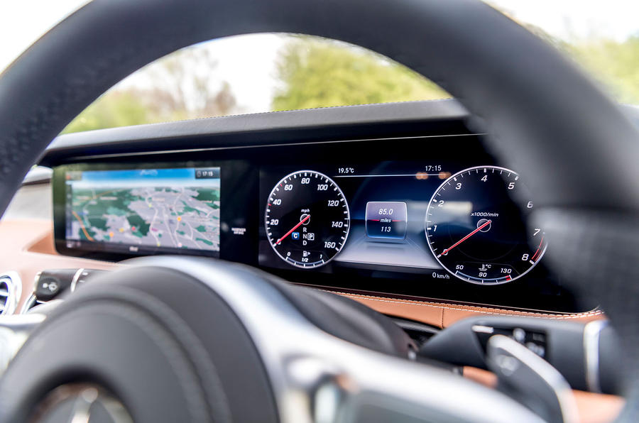 Mercedes-Benz S560 Coupe 2018 UK review instrument cluster