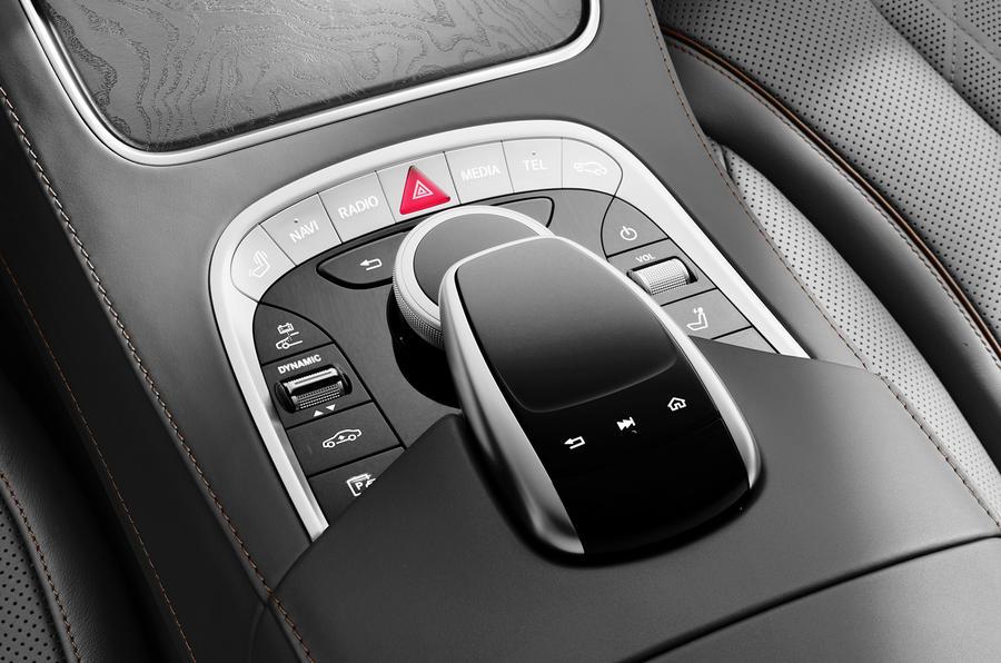 Mercedes-Benz S-Class S560e 2018 first drive review - centre console