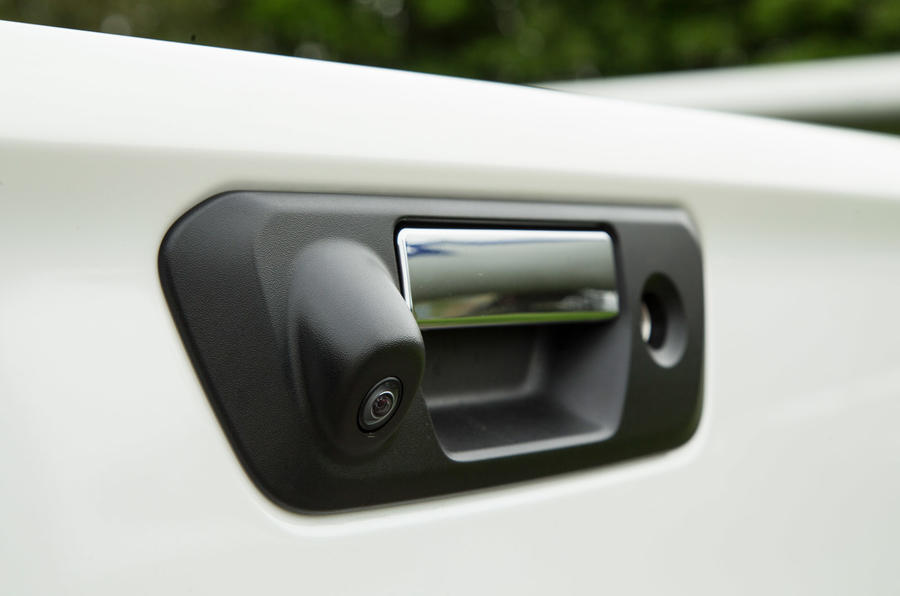 Mercedes-Benz X-Class longterm review tailgate handle
