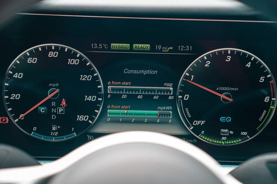 Mercedes-Benz E-Class E300de 2019 UK first drive review - instruments