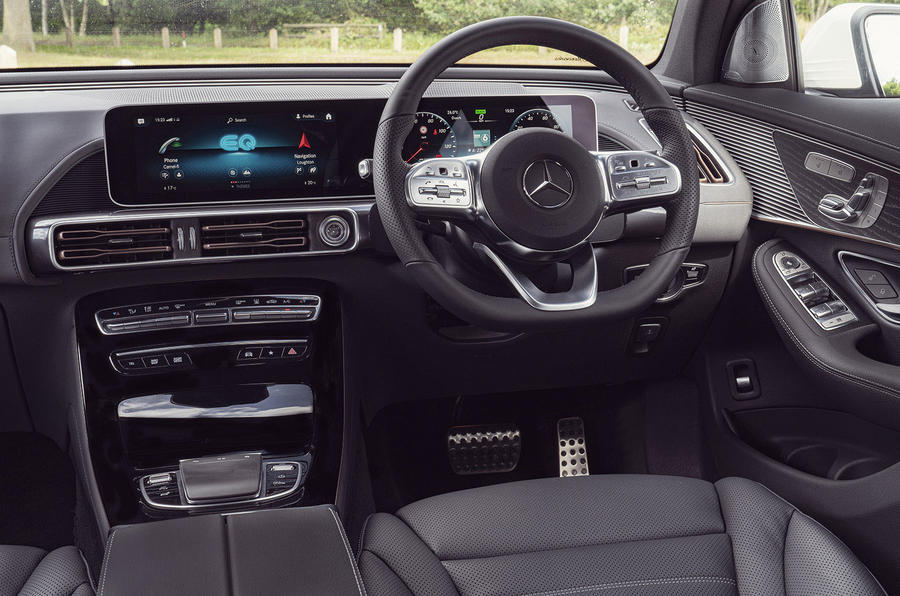 Mercedes-Benz EQC 400 2019 UK first drive review - dashboard