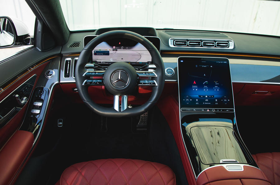 Mercedes S-Class S500 2020 (LHD) : premier examen de conduite au Royaume-Uni - tableau de bord