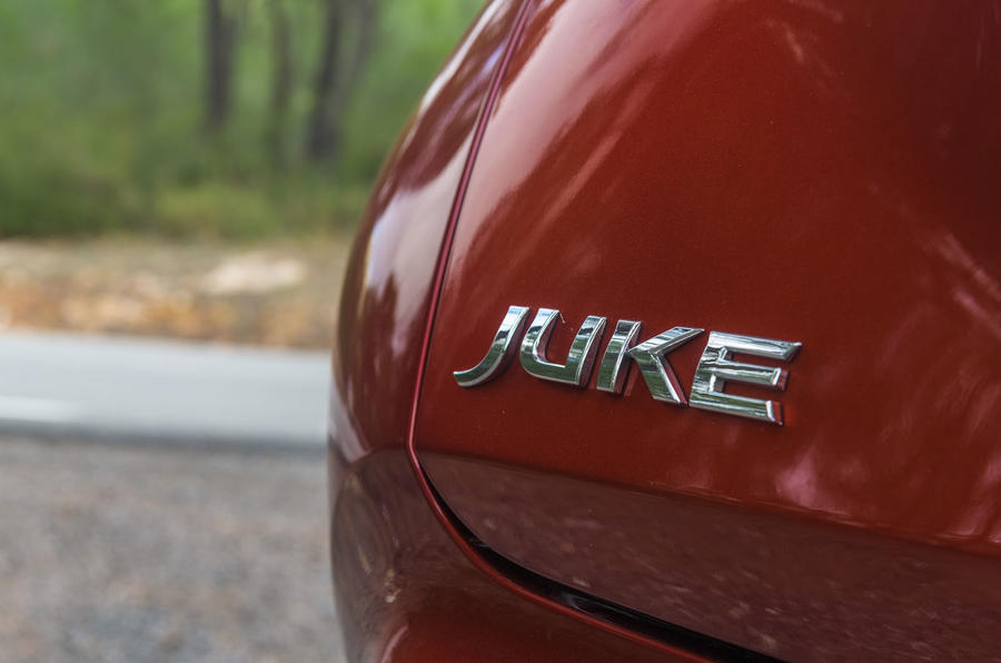 Nissan Juke 2019 first drive review - rear badge