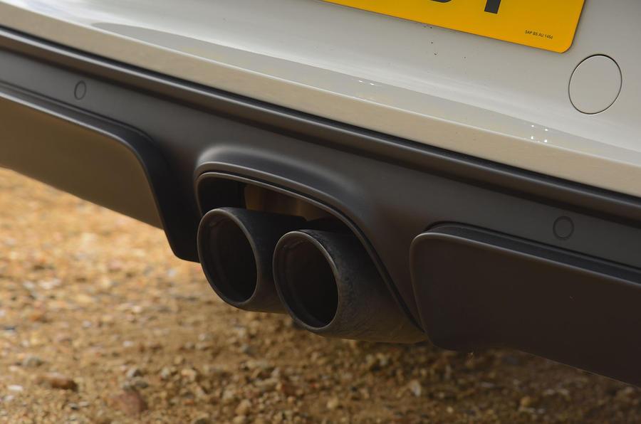 Porsche 718 Cayman GTS 2018 UK review exhaust