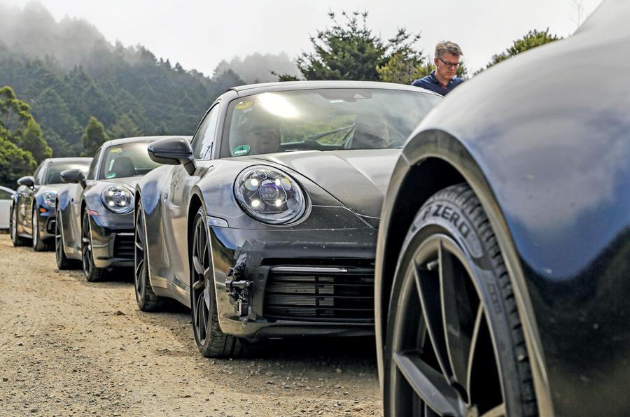2019 Porsche 911 prototype first ride - convoy static