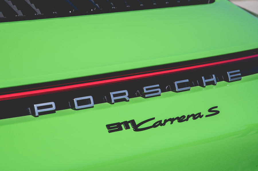 Porsche 911 Cabriolet 2019 first drive review - rear badge
