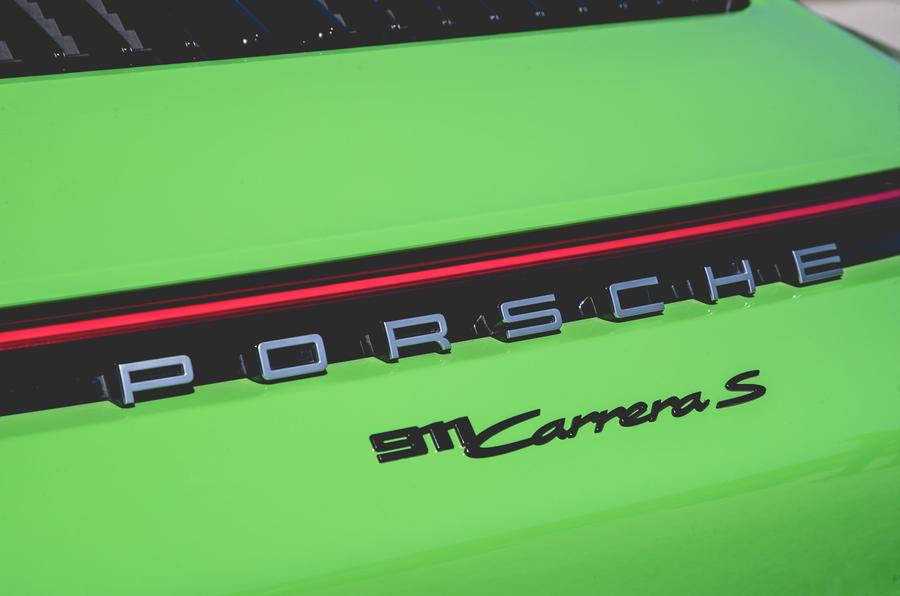 Porsche 911 Cabriolet 2019 first drive review - rear badge